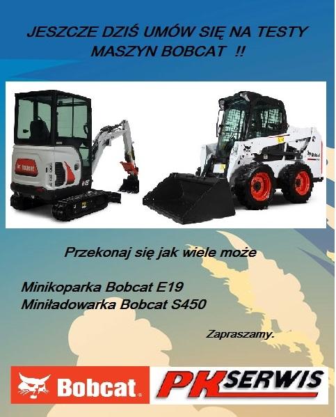 Umów się na testy maszyn Bobcat
